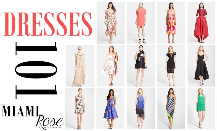 Fashion | Dresses 101 | The MIAMI Rose | Different dress styles, sleeve cuts, and skirt patterns - and what works best for your body! Tutorial, dresses by Nordstrom | www.themiamirose.com