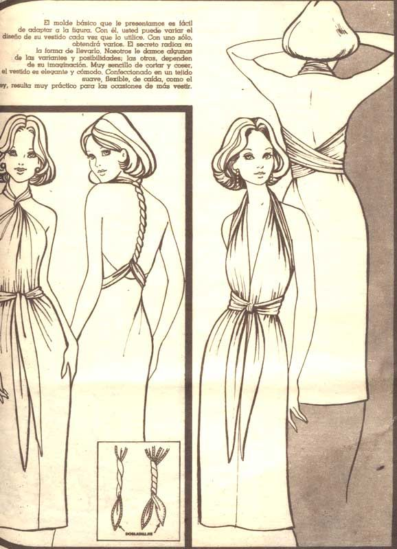 More views of the early version of the convertible dress