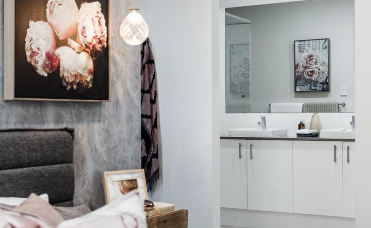 The ensuite is both stylish and practical