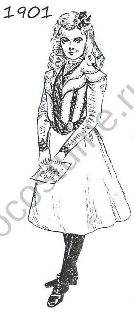 Платье для девочки. 1901 год