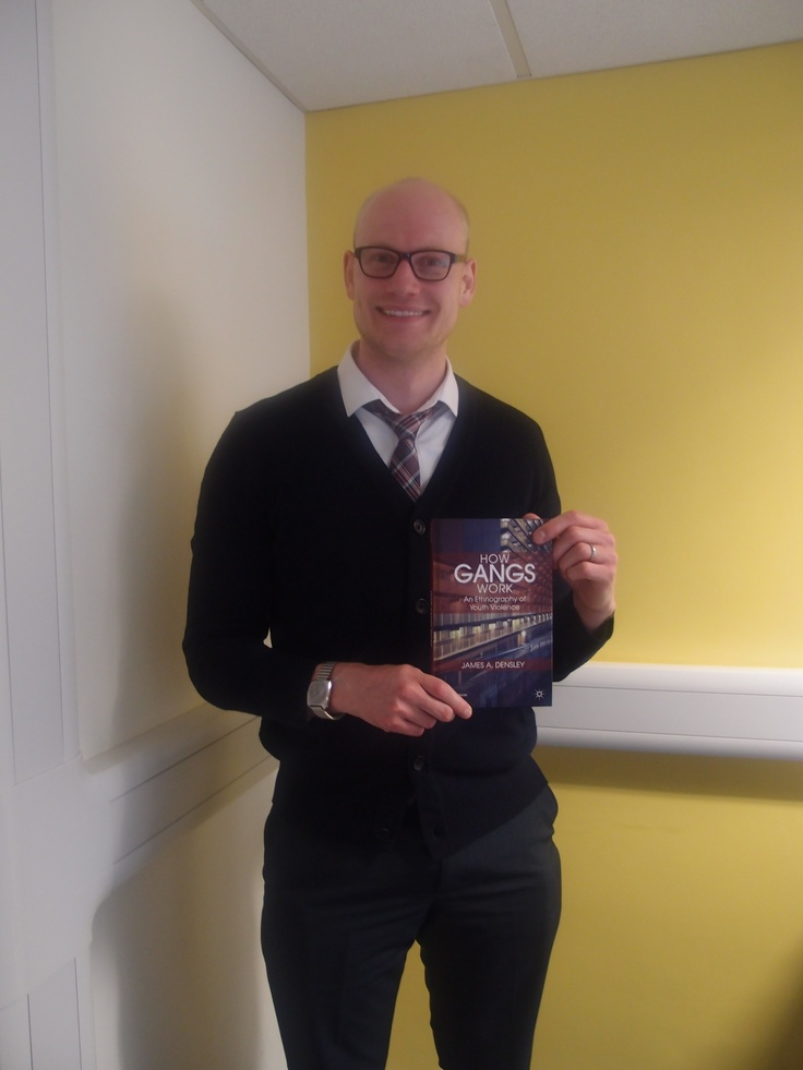 Alumni Dr James Densley visits the University of Northampton to talk about his new book