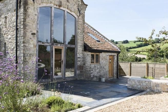 IMPRESSIVE entry to old tythe barn, now converted into luxury home, Sept '16, Near Bristol