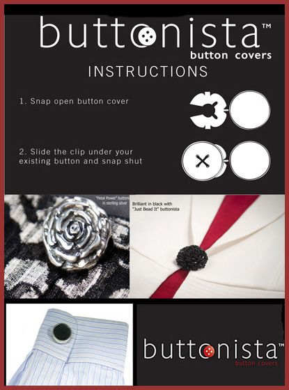 Flyer created to showcase how to use the buttonista product.