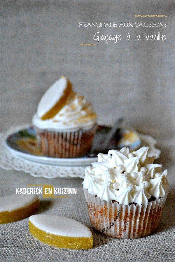 Recette cupcakes frangipane aux calissons d'Aix et glaçage vanille Vahiné - Kaderick en Kuizinn