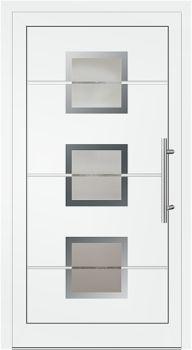 Aluminium Haustür Modell Lara2 weiß