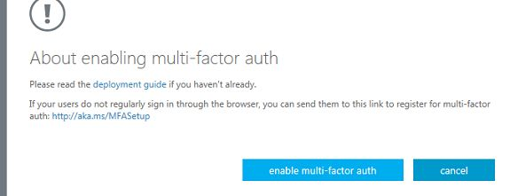 Multi Factor Authentication on O365