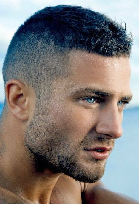 Short haircut for men with thick hair - Caesar hairstyles