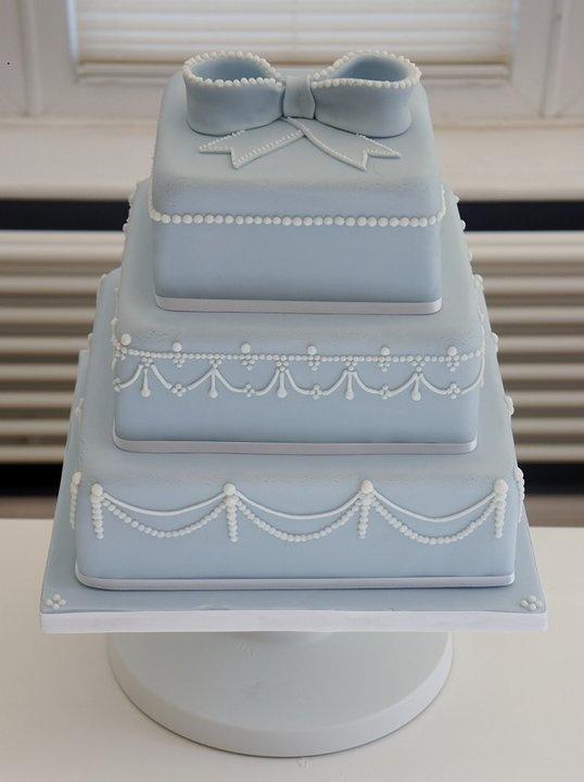 Carolina blue bow cake