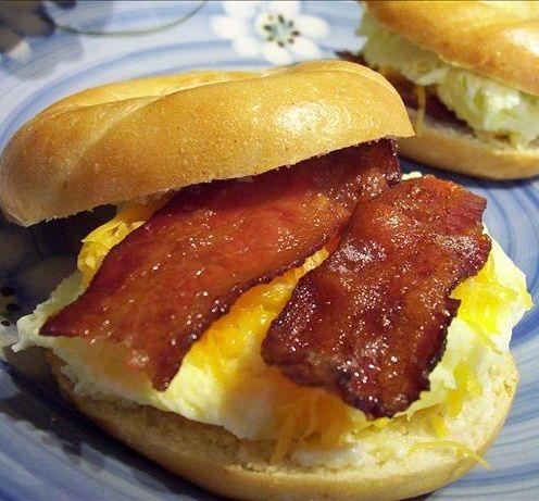 Breakfast #EGG Bagel Sandwiches