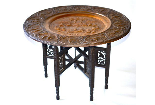 and Table jordan Copper shoe Anglo Indian Tray releases Tables    Copper Trays and Tray