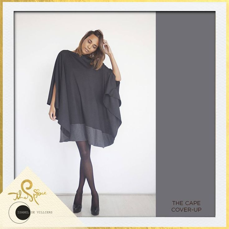 Feast your eyes on this Isabel de Villiers Clothing Cape Cover-Up. Paired with leggings and boots, you're good to take on the world! #safashion #shoplocal