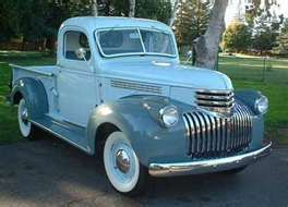 Blue truck--1945 Chevy