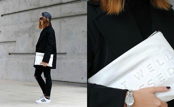 Zara Cap, H&M Jacket, Zara Clutch, Adidas Sneaker