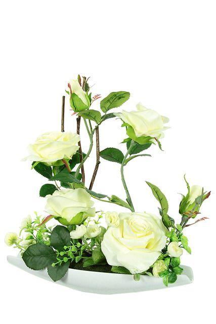 Composition florale artificielle, 33 x 10 x H 36 cm