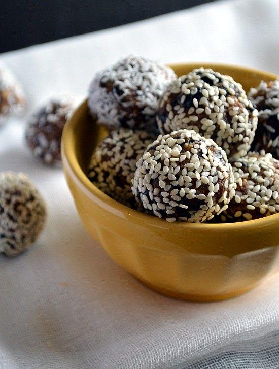 Vegan Fig & Tahini Truffles