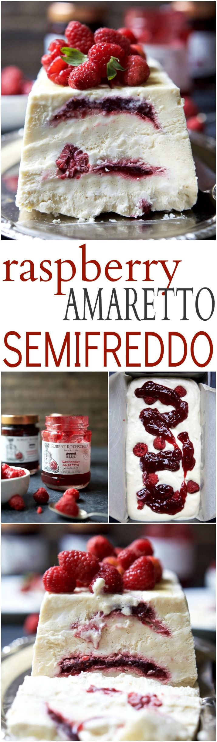 Indulgent Raspberry Amaretto Semifreddo, it's everything ice cream wishes it could be - light, creamy, and airy. This dessert is perfect for the summer and you'll love the secret sauce nestled inside every bite!| joyfulhealthyeats.com #glutenfree #ad #dairyfree