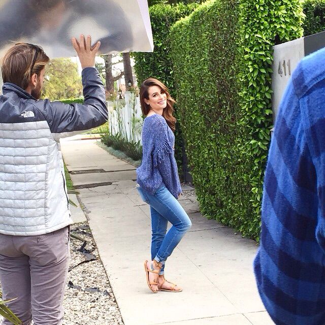 """Lea Michele shooting for her book """"You First"""""""