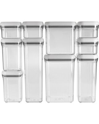 Organize your pantry in style with this 10 piece container set from OXO.