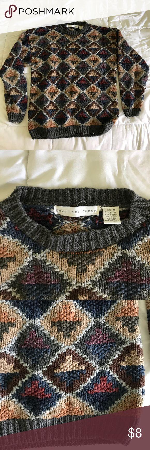 Vintage Oversized Grandpa Sweater Geoffrey Beene pullover sweater - vintage size medium Geoffrey Beene Sweaters Crew & Scoop Necks