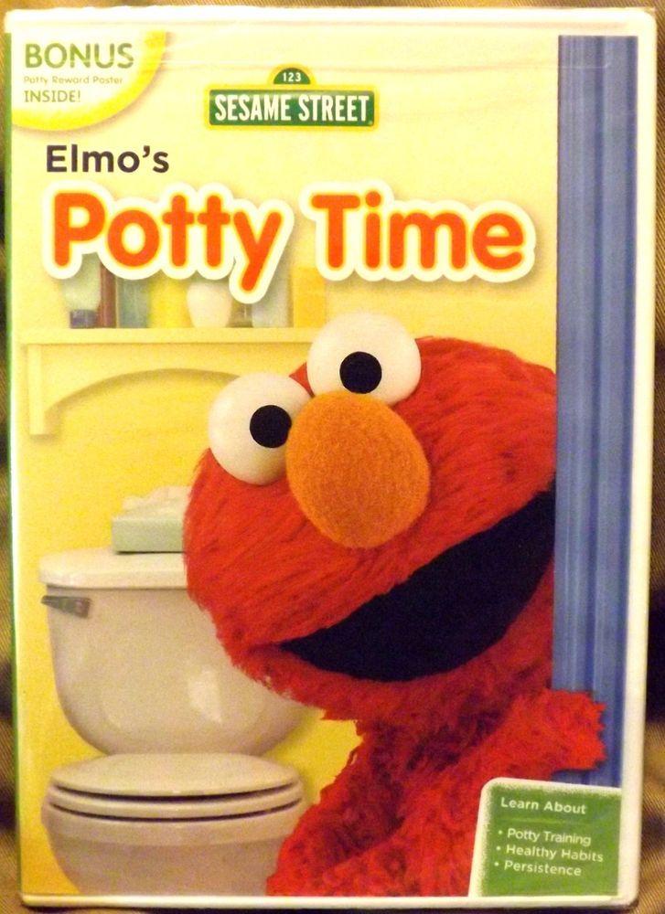 Sesame Street - Elmo's Potty Time (DVD, 2013) New Factory Sealed Bonus Material