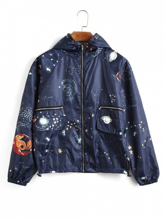 Jaqueta com capuz com capa de proteção Galaxy - Cadetblue S
