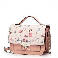 Niewielka i stylowa damska torebka Różowa