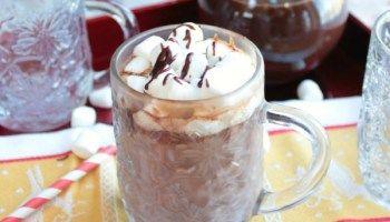 Cremig heiße Schokolade (mit Ganache gemacht)