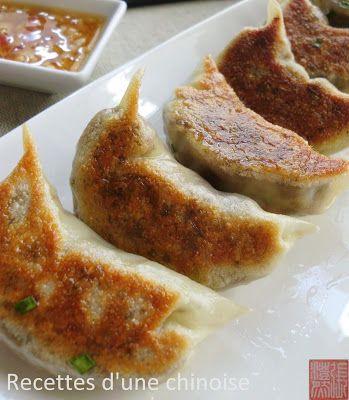 Raviolis grillé ou gyoza au canard
