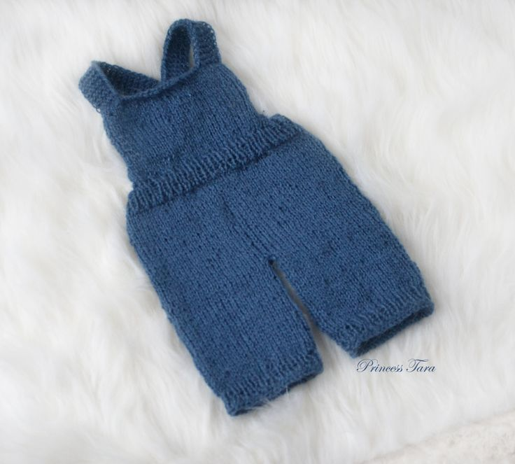 Denim Blue Overalls for Newborn Boy, Knit Boys Dungarees, Baby Boy Pants, Newborn Overalls, Mohair Props, Newborn Boy Props by PrincessTaraCo on Etsy