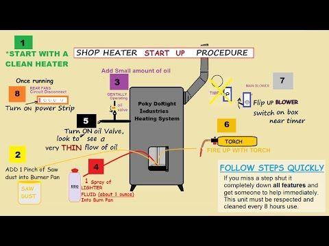 how to make waste oil burner heater