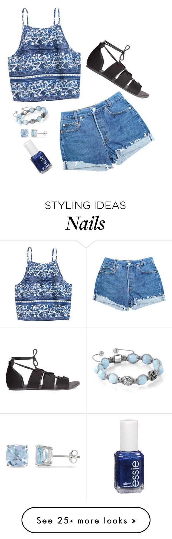 """Still Experimenting"" by syds-fashion-4-ever on Polyvore featuring Levi's, H&M, Shamballa Jewels, Ice and Essie"