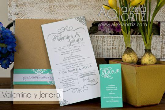 Invitaciones de boda con toques vintage/ invitaciones de boda / wedding invitations