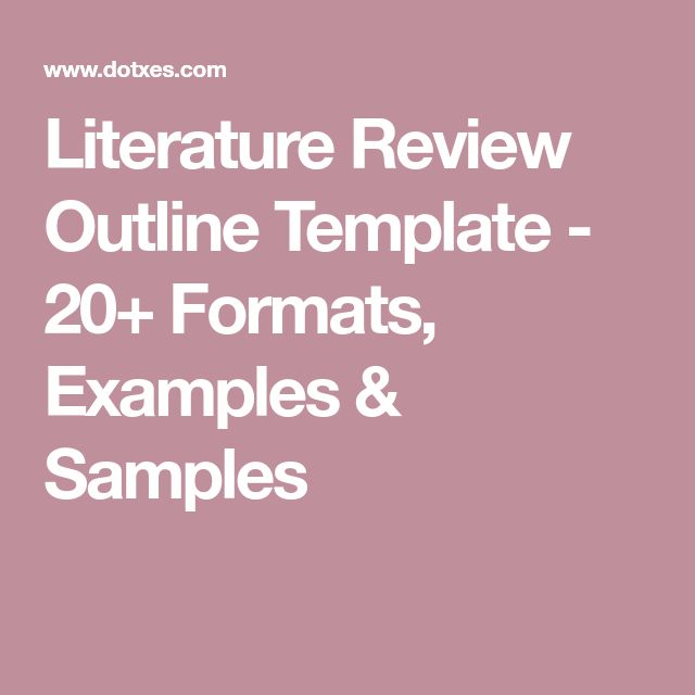 The  Best Literature Review Sample Ideas On   Thesis