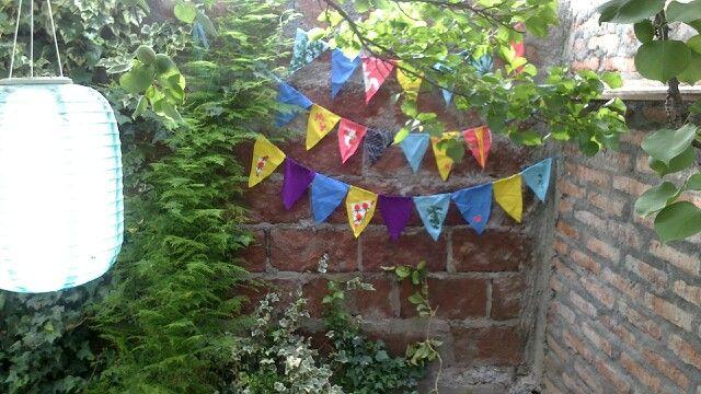 Banderitas para el jardín