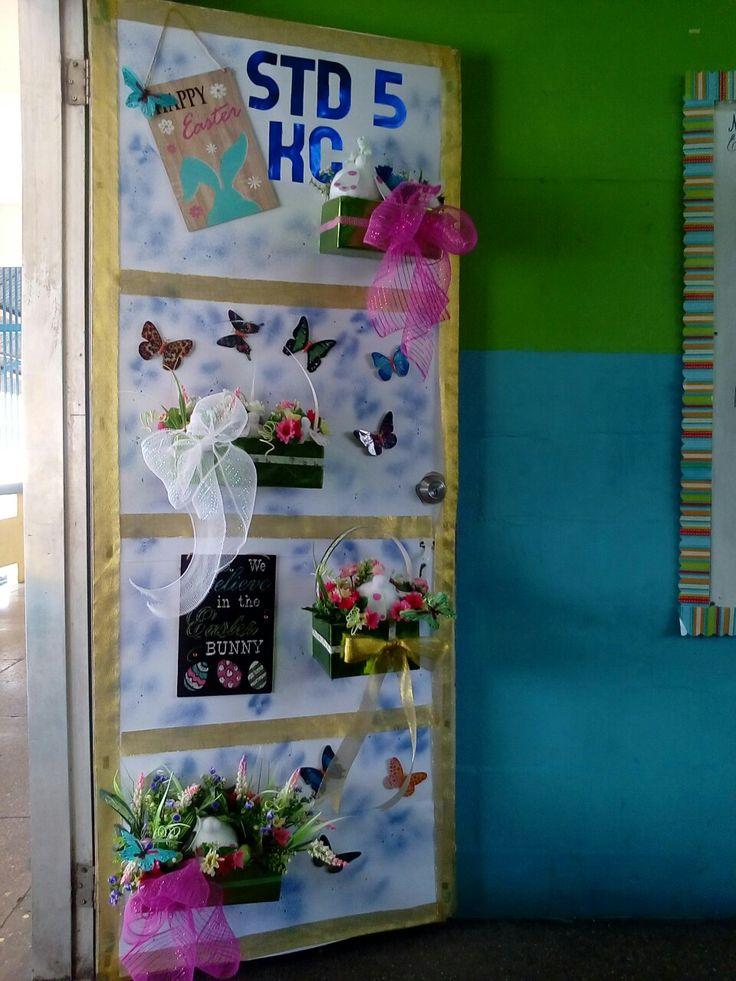 Easter themed door