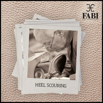 Do you know that every step of our production process takes place in house? Also the #heel scouring is totally #handmade! http://www.fabishoes.it/it/filiera-produttiva