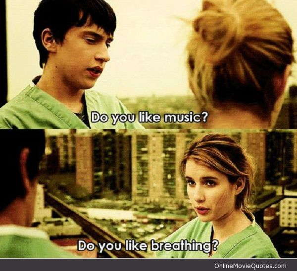 Humorous Love Quotes From Movies: Do You Like Music? It's Kind Of A Funny Story #Movie