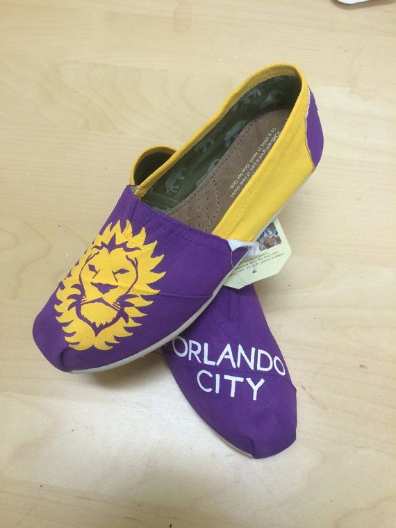 Orlando City Soccer TOMS by artandsoles.com