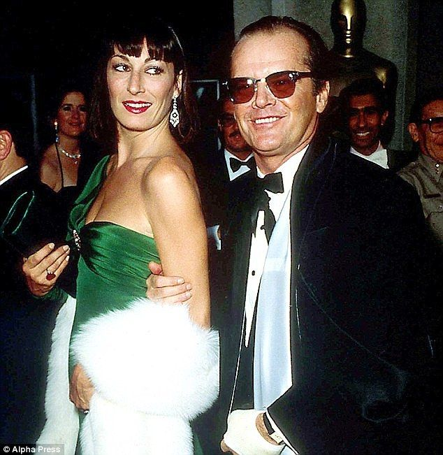 Nicholson's 16-year affair with Addams Familyactress Angelica Huston (above) ended in turbulent circumstances when he announced over dinner that Rebecca Broussard was going to have his baby