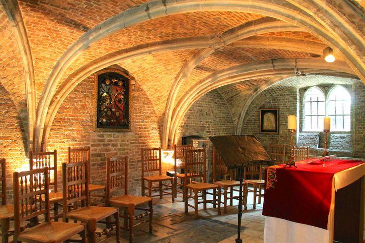 Wnętrze Jeruzalemkerk w Brugii