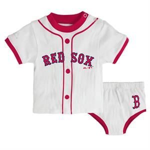 Red Sox Little Player Striped Tee and Diaper Cover