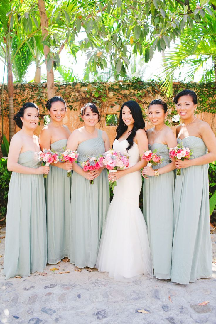 22 best bridesmaids dresses images on pinterest wedding casa guillermo wedding by gladys jem mint bridesmaid dressesbridesmaid ombrellifo Choice Image