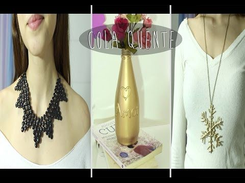 DIY: Crie e Personalize com Cola Quente - Parte 1 - YouTube I know it's not English but lots of great Glue Gun crafts