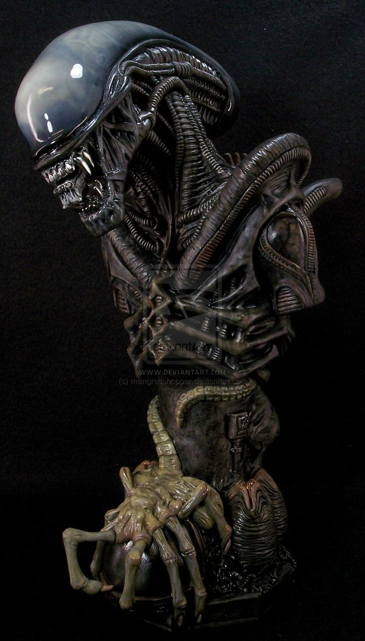 Alien bust by ~mangrasshopper on deviantART