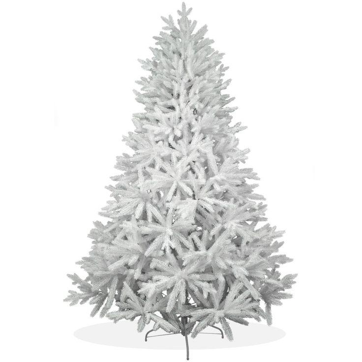 Künstlicher Weihnachtsbaum 210cm PE Spritzguss schneeweißer Premium Tannenbaum Nordmanntanne Christbaum