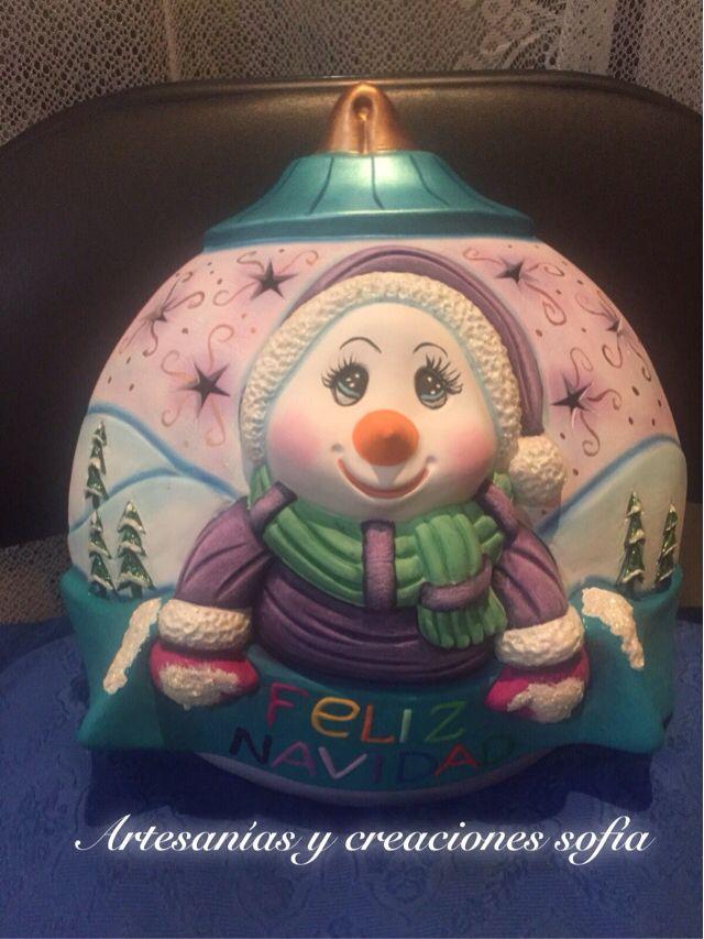 Esfera muñeco de nieves