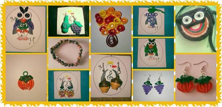 Accesorii Hammah Handmade cu inspiratie tomnatica.  Mai multe detalii: http://hammah-handmade.wix.com/page