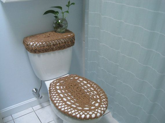 Set of 2 Crochet Covers for Toilet Seat & Toilet Tank Lid