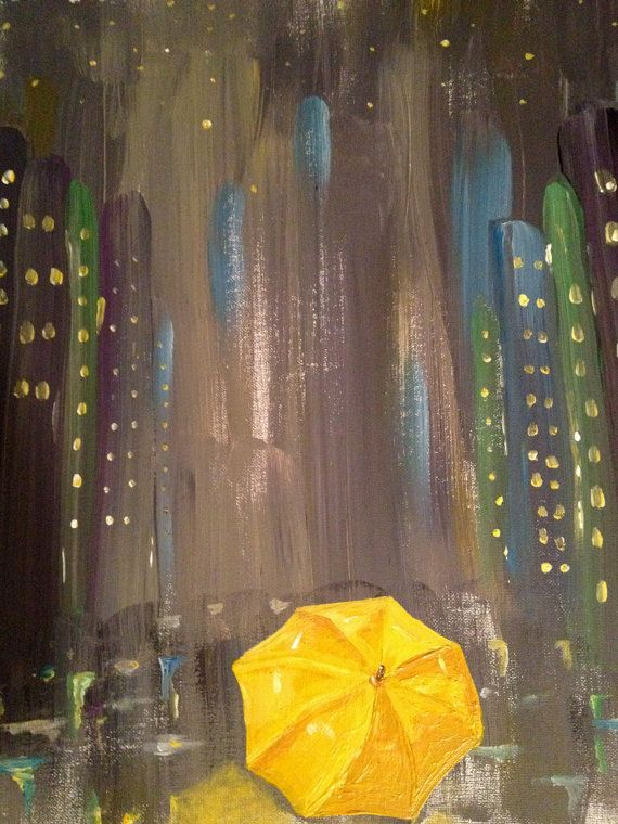 Paintings inspired by TV shows and movies! How I Met Your Mother_Yellow Umbrella Print by YellowUmbrellaArt, $25.00