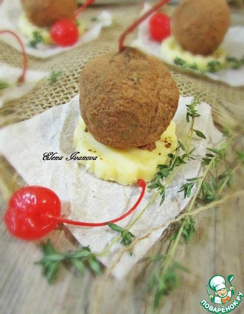 Конфеты из сухофруктов с коктейльной вишней - кулинарный рецепт